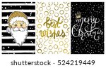 collection with merry christmas ... | Shutterstock .eps vector #524219449