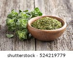 oregano.fresh and dry | Shutterstock . vector #524219779