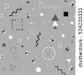 trendy geometric elements card. ... | Shutterstock .eps vector #524220331