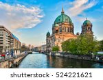 Stock photo berlin cathedral with a nice sky in berlin germany 524221621