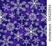 seamless christmas pattern with ... | Shutterstock .eps vector #524223514