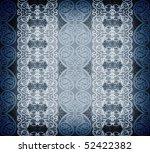 blue arabesque background - stock photo