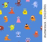seamless cute pattern with a... | Shutterstock .eps vector #524224501