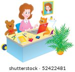 girl with a laptop | Shutterstock . vector #52422481