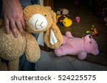 pedophile with cuddly toy... | Shutterstock . vector #524225575