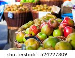 Fresh Apples On Display At A...