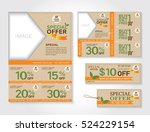 sale flyer  promotions coupon... | Shutterstock .eps vector #524229154