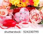 Colorful Roses  Candles  Beads...