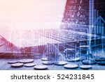 economy of stock exchange graph ... | Shutterstock . vector #524231845
