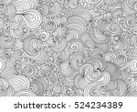 decorative abstract figured... | Shutterstock .eps vector #524234389