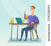 caucasian happy businessman... | Shutterstock .eps vector #524238541