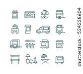 street food retail  food truck...   Shutterstock . vector #524238604
