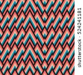 seamless pattern with tribal... | Shutterstock .eps vector #524241181