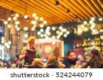 blurred restaurant or cafe...   Shutterstock . vector #524244079