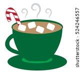 christmas coffee | Shutterstock .eps vector #524246557