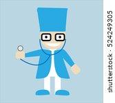 funny doctor | Shutterstock .eps vector #524249305