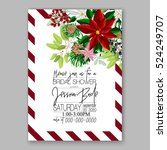 christmas party invitation with ... | Shutterstock .eps vector #524249707