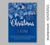 christmas party invitation with ... | Shutterstock .eps vector #524252521