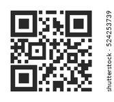 barcode icon. vector... | Shutterstock .eps vector #524253739