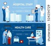 medical treatment horizontal... | Shutterstock .eps vector #524254729