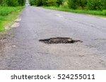 dangerous pothole in the... | Shutterstock . vector #524255011