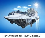 magic winter island with... | Shutterstock . vector #524255869