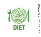 vector logo for diet | Shutterstock .eps vector #524257141