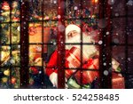 real santa claus. santa claus... | Shutterstock . vector #524258485