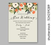 wedding invitation template... | Shutterstock .eps vector #524259289