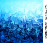 abstract blue gradient polygon... | Shutterstock .eps vector #524262691