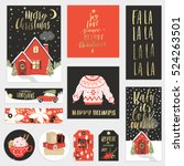 collection of stylish new year... | Shutterstock .eps vector #524263501