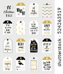 collection of 15 stylish black... | Shutterstock .eps vector #524263519
