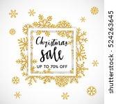 elegant merry christmas... | Shutterstock .eps vector #524263645