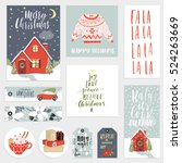 collection of  cute stylish new ... | Shutterstock .eps vector #524263669