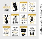 collection of 11 stylish black... | Shutterstock .eps vector #524263795