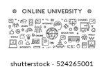 vector line concept for online... | Shutterstock .eps vector #524265001