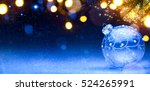 blue christmas background ... | Shutterstock . vector #524265991