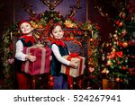 Santa Claus's Helpers. Two Cut...