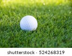 golf ball on course and sunlight | Shutterstock . vector #524268319