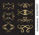 set of decorative borders and... | Shutterstock .eps vector #524270557