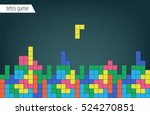 background tetris game. colored ...   Shutterstock .eps vector #524270851
