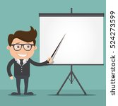 business man pointing at a... | Shutterstock .eps vector #524273599