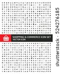 shopping and commerce icon set... | Shutterstock .eps vector #524276185