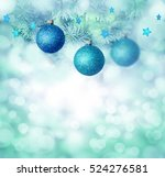blue christmas  background.... | Shutterstock . vector #524276581