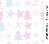 seamless pattern of christmas... | Shutterstock .eps vector #524276764
