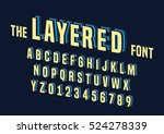 vector of stylized layered font ... | Shutterstock .eps vector #524278339