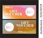 gift certificatevector... | Shutterstock .eps vector #524278729