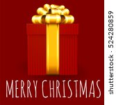 christmas and new year red... | Shutterstock .eps vector #524280859