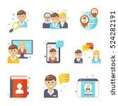 social media icons  flat design. | Shutterstock .eps vector #524282191