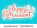 happy retirement banner. | Shutterstock .eps vector #524283421